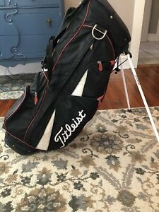 Titleist Hybrid 14 Stand Golf Bag 14-Way Divide Dual Strap Black/Red/White