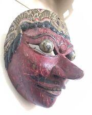 Early Wayang Topeng Javanese Indonesian Antique Mask Nice Patina