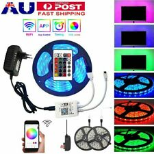5/10/15M 5050 RGB LED Strip Lights Waterproof 24Key Wifi Controller 12V Adapter
