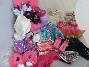Build A Bear Large Bundle of clothes and accessories, dresses, bed, shoes, tops