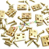 20pcs Mini Cerniere in metallo con chiodi per 1/12 miniatura Mobili Dollhouse
