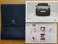 GENUINE PEUGEOT PARTNER OWNERS MANUAL HANDBOOK WALLET NAVI 2015-2018 PACK