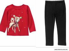 NEW GYMBOREE REINDEER TOP AND LINED LEGGINGS OUTFIT NWT Size 12-18 MTHS