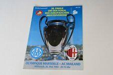 More details for champions league final (1993) marseille v ac milan programme (excellent)