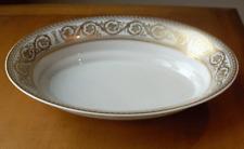 Castletown China USA GOLDEN SCROLL oval vegetable bowl~circa 1970~pristine-NR
