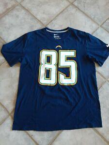 Nike San Diego Chargers Antonio Gates Tshirt sz L