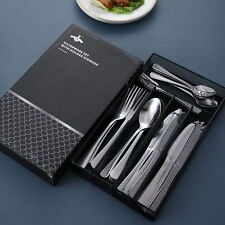 30Pcs Silverware Flatware Cutlery Set Stainless Steel Utensils Service for 5
