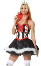 Leg Avenue Queen Of Hearts Alice in Wonderland Fancy Dress Costume, XS UK 4-6.