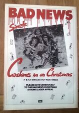 BAD NEWS (Rik Mayal Young Ones) Xmas 1987 magazine ADVERT/clipping 11x8 inches