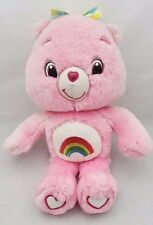 "2007 Care Bears  -  'Glo in the Dark' CHEER BEAR  -  14"" Plush Toy"