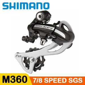 Shimano Acera RD M360 SGS 7 8 Speed Rear Derailleur Black MTB Bicycle Long Cage