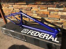 "FEDERAL BIKES STEVIE CHURCHILL ICS FRAME FLAT BLUE 20.6 BIKE 20.6"" BMX S&M"