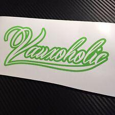 GREEN Vauxoholic Car Sticker Decal Funny Vauxhall Opel VXR Sri GTC Corsa Astra