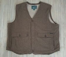 WOOLRICH Fleece Lined Wool Vest. Cadigan   80% Wool 20% Nylon Size 2XL  XXL