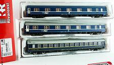 RIVAROSSI HR4169 - H0 1:87 - Set composto da 3 carrozze vagone letto FS Tipo MU