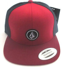 MENS VOLCOM SNAPBACK ADJUSTABLE HAT RED/BLUE CAP ONE SIZE