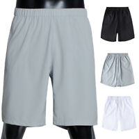 Men's Summer Sports Short Pants Jersey Plain Baggy Casual Elastic Shorts M-3XL