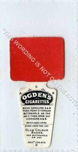 (Gb8327-513) Ogden's,Football Club Colour Badge,Man Utd,Liverpool Etc. 1910 EX