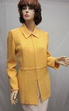 St John Knit NWOT Yellow Novelty Knit Zipper JACKET SZ 6 8