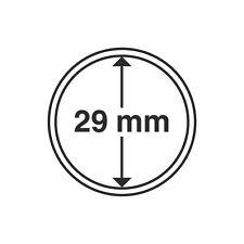 Capsules rondes 29mm, pour pièces de 10euro. Paquet de 10.