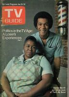 1975 TV Guide January 18-That's My Mama; Movin' On; Theresa Merritt; Ballroom