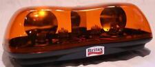 Britax A421 rotating amber flashing mini lightbar beacon bolt-on 12/24V ECE R65