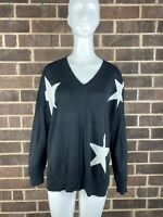 NWT Women's Kut From The Kloth Star Pullover Sweater Black Size M