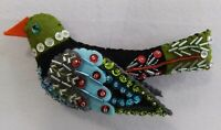 12 Days of Christmas Hand made Colley Bird Beaded 4th day of Christmas ornament