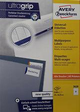 AVERY Zweckform 3420 Etiketten ultragrip 70 x 16,9 mm weiß Menge nach Auswahl