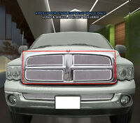 For 2002-2005 Dodge Ram 1500 2500 3500 Stainless Mesh Grille Grill Upper