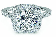 1.00 CT DIAMOND ENGAGEMENT RING ROUND CUT  F/SI 1 14CT SOLID WHITE GOLD ENHANCED