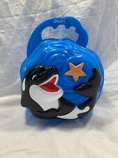 Seaworld Shamu Lunch Box Tote Purse Pail Blue Plastic 2006 Whale Souvenir