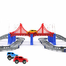 Battery Operated Railway Diecast Mini Car Play Set Christmas Gift Kids Toy New