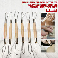 6Pcs Pro Polímero Arcilla Escultura S Set Madera Modelos Arte Proyectos Loza