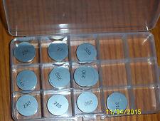 20 Shims 25mm Valve Shim SHOP KIT w/Storage Case Honda CBX Yamaha FJ1100 FJ1200