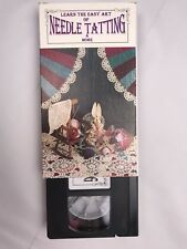 Needle Tatting VHS Learn Beginners Picots Rings Chains Tips Pre-Owned