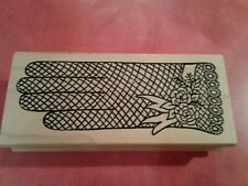 Me & Carrie Lou Vintage Glove Rubber Stamp
