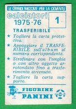 TRASFERIBILE CALCIATORI PANINI 1975/76 - NUOVA/NEW N.1 STEMMA - ASCOLI
