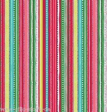 Makower Christmas Streifen Patchworkstoff Stoffe Weihnachten Patchwork Gestreift