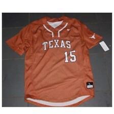 RARE NEW NIKE Texas Longhorns #15 Baseball Jersey sz LG $100