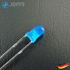 Leuchtdiode LED - 3MM - RUND - Weiß KLAR / Grün, Blau, Rot, Orange, Gelb DIFFUS