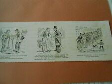 Caricature 1892  - Après le Vélocipède a 10 places les polycycles pour noces
