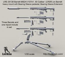 Live Resin 1:35 Barrett M82A1/107A1 .50 Caliber (LRSR) on M3 Tripod LRE35138*