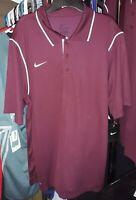 Nike Mens Maroon Dri-Fit Polo Shirt Size Large