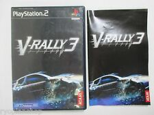 PlayStation2 -- V RALLY 3 -- PS2. JAPAN GAME. 38051
