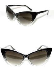 Women's Cat Eye Vintage Sunglasses black Clear Frame Nikita Retro Pin Up Retro