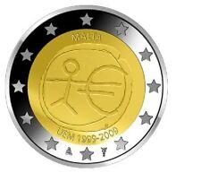 """Malta 2 euro 2009 """"10e verjaardag EMU"""" Commemorative/ - Zo uit de rol!"""