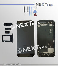 BACK COVER SCOCCA POSTERIORE IPHONE 5 NERO COPRIBATTERIA + kit riparazione
