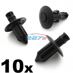 10x 8mm Suzuki Fairing, Shield & Trim Cover Clips for GSX, Bergman, V-Strom
