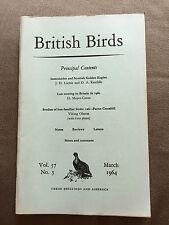"""MARCH 1964 """"BRITISH BIRDS"""" MONTHLY MAGAZINE - SCOTTISH GOLDEN EAGLES"""